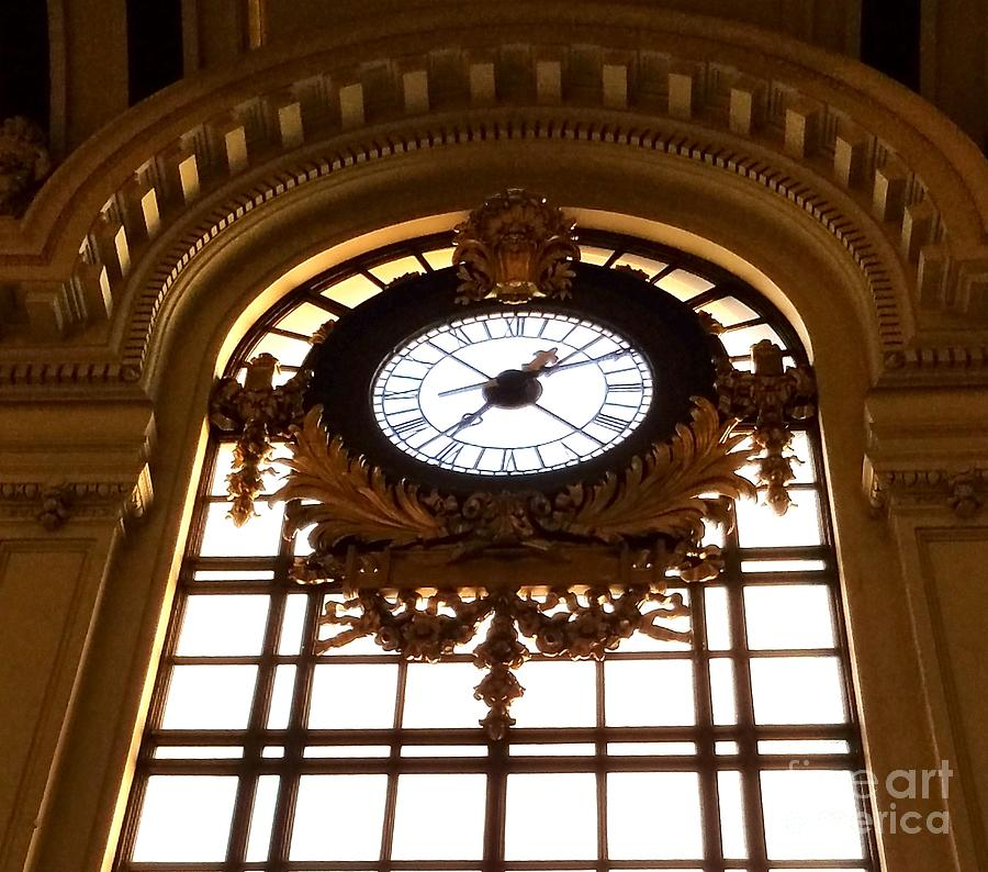 Antique Clock - Hoboken Terminal New Jersey Photograph