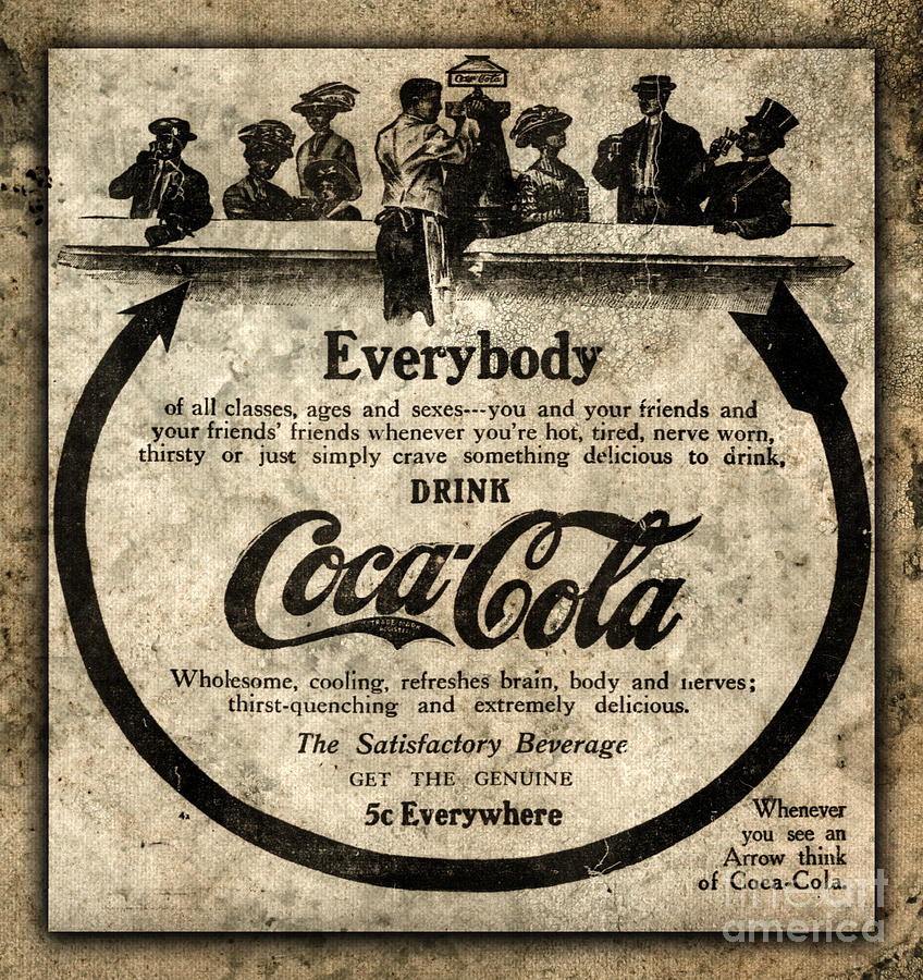Antique Coca Cola Advertisement