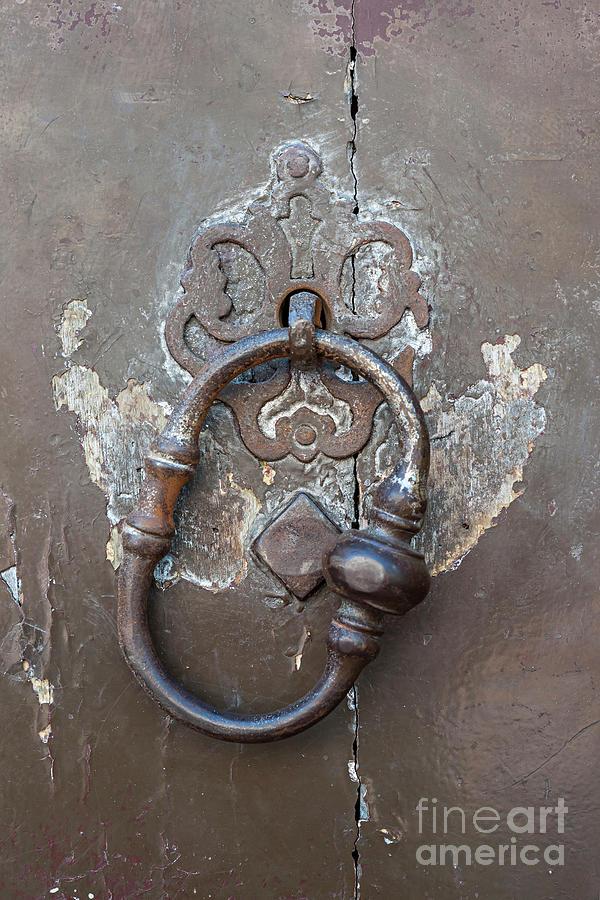 Door Knocker Photograph - Antique Door Knocker by Elena Elisseeva