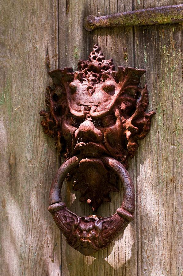Antique Photograph - Antique Door Knocker by Louis Dallara