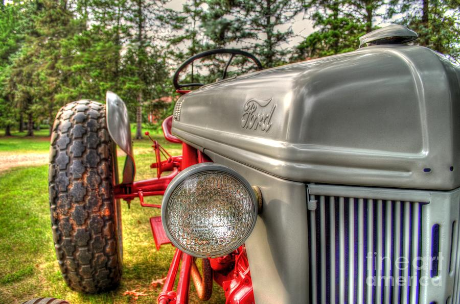 Ford Photograph - Antique Ford Tractor by Michael Garyet