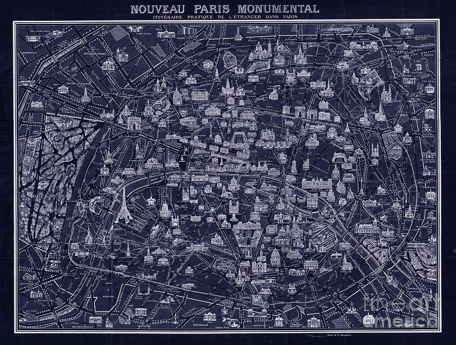 French pocket map of paris blueprint style drawing by tina lavoie antique french pocket map of paris blueprint style drawing by tina lavoie malvernweather Gallery