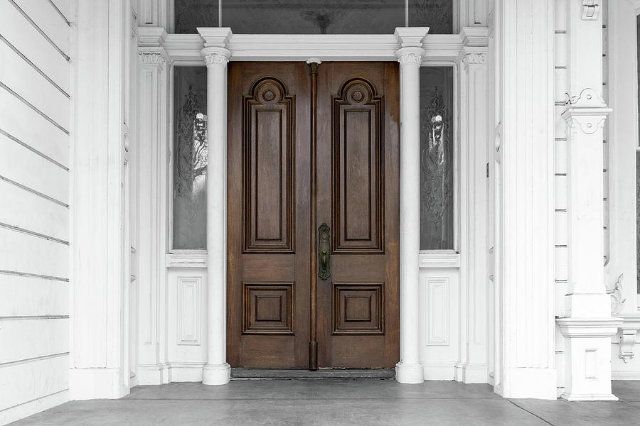 Antique Door Photograph - Antique Front Door Meek Estate Hayward California  by Kathy Anselmo - Antique Front Door Meek Estate Hayward California Photograph By