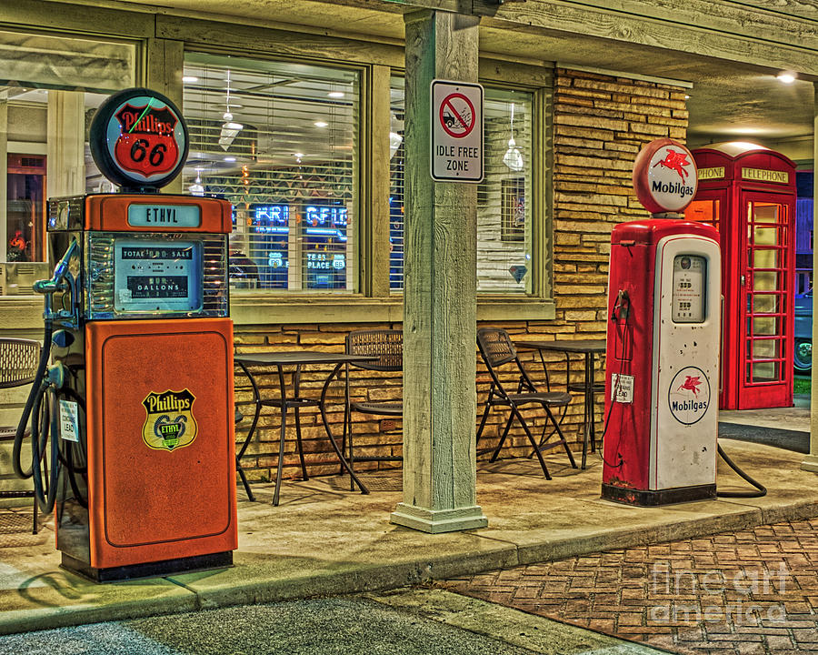 Antique Gas Pumps by Phil Spitze