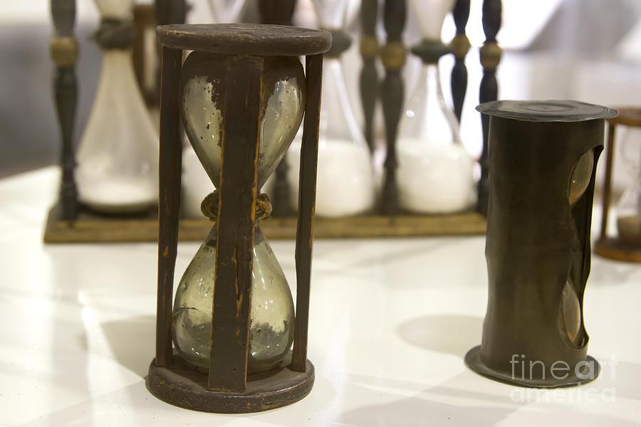 Antique Hour Glass Photograph