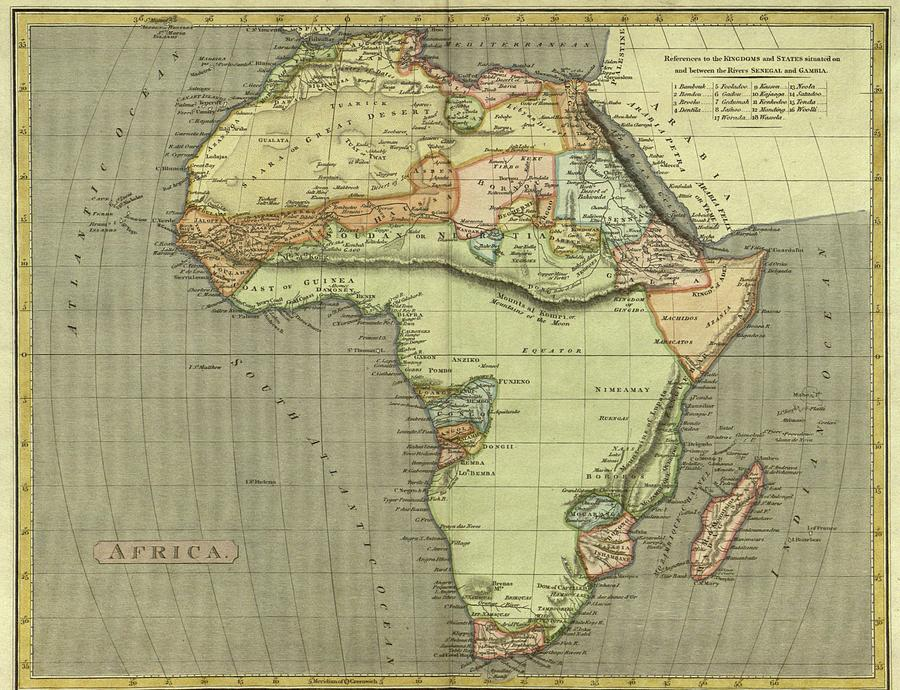 Old Map Of Africa Antique Maps   Old Cartographic maps   Antique Map of Africa