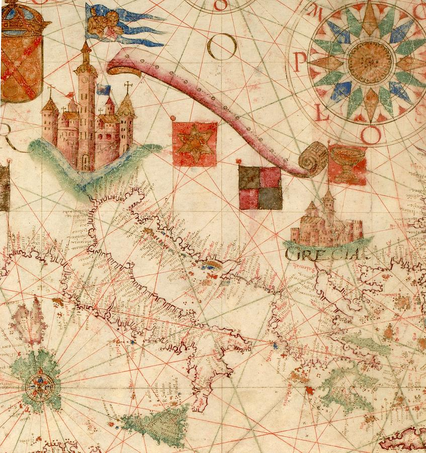 Antique Maps - Old Cartographic Maps - Antique Map Of The ...