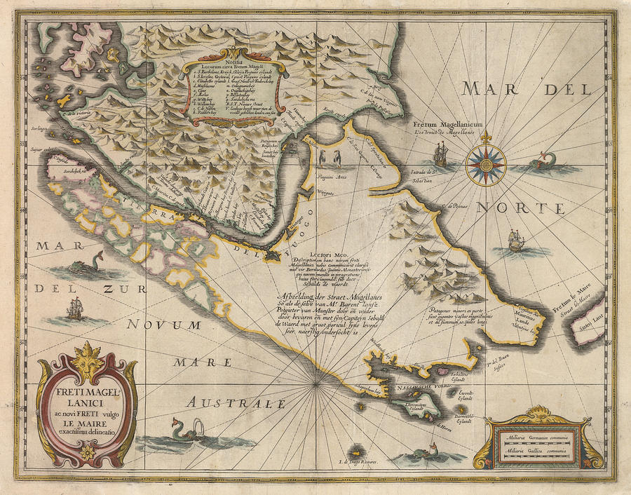 Antique maps old cartographic maps antique map of the strait of magellan drawing antique maps old cartographic maps antique map of the strait of gumiabroncs Gallery