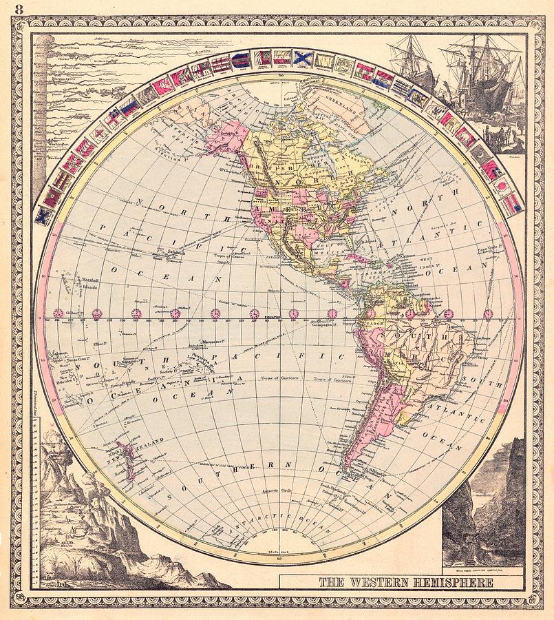 Hemispheres A World Of Fine Furnishings: Old Cartographic Maps