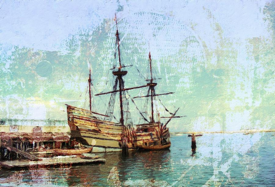 Antique Mayflower II by Diane Lindon Coy