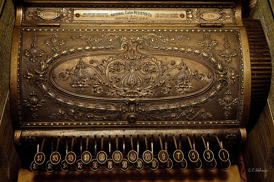 Cash Register Photograph - Antique Ncr by Christopher Holmes
