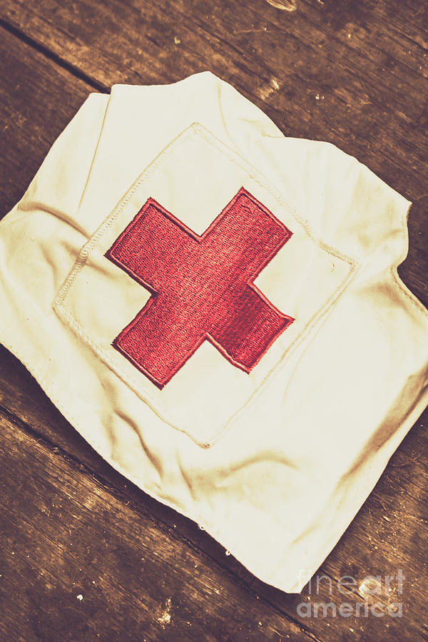Hospital Photograph - Antique Nurses Hat With Red Cross Emblem by Jorgo Photography - Wall Art Gallery