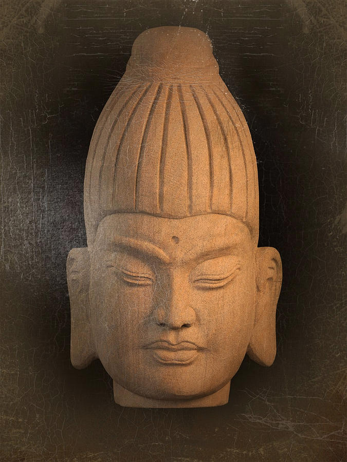 Antique Photograph - antique oil effect Buddha Burmese by Terrell Kaucher