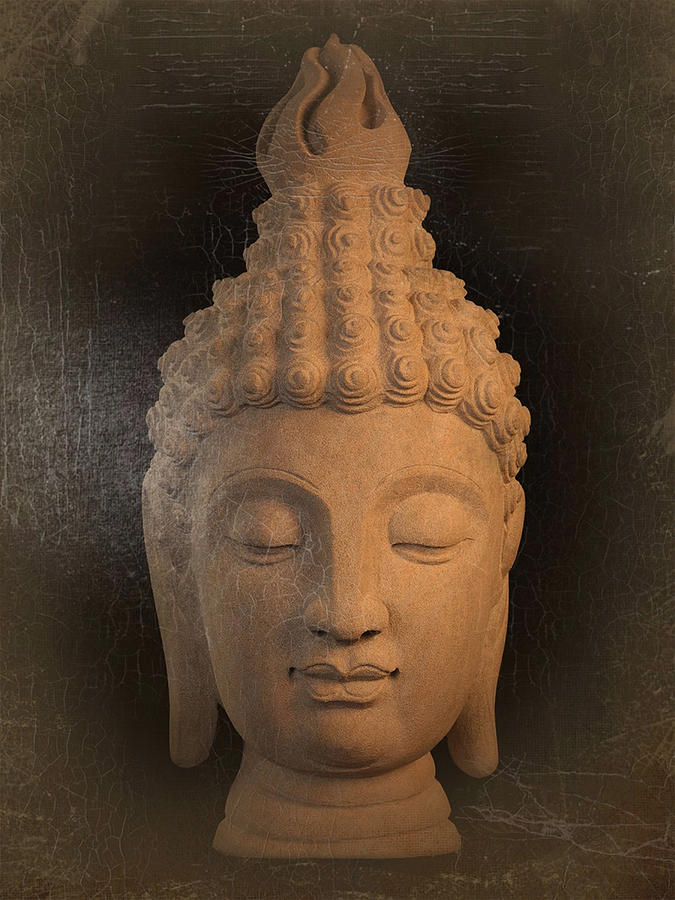 Antique Photograph - antique oil effect Buddha Sukhothai by Terrell Kaucher