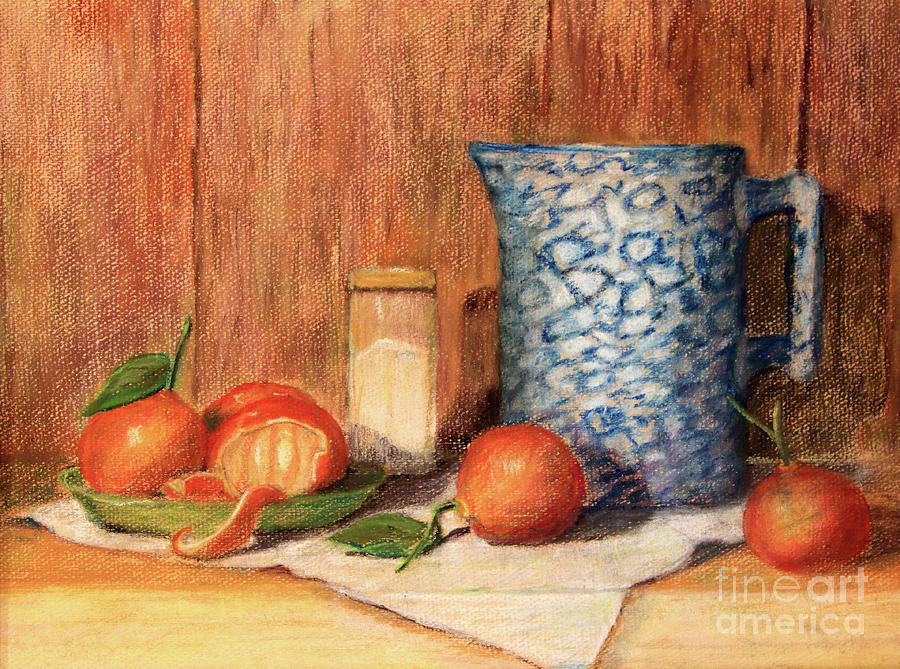 Antique Pitcher with Tangerines by Pattie Calfy