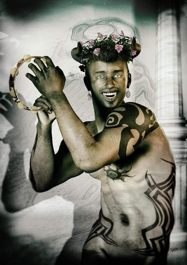 Antique Portrait Of Dionysus Digital Art by Quim Abella  Dionysus Drawing