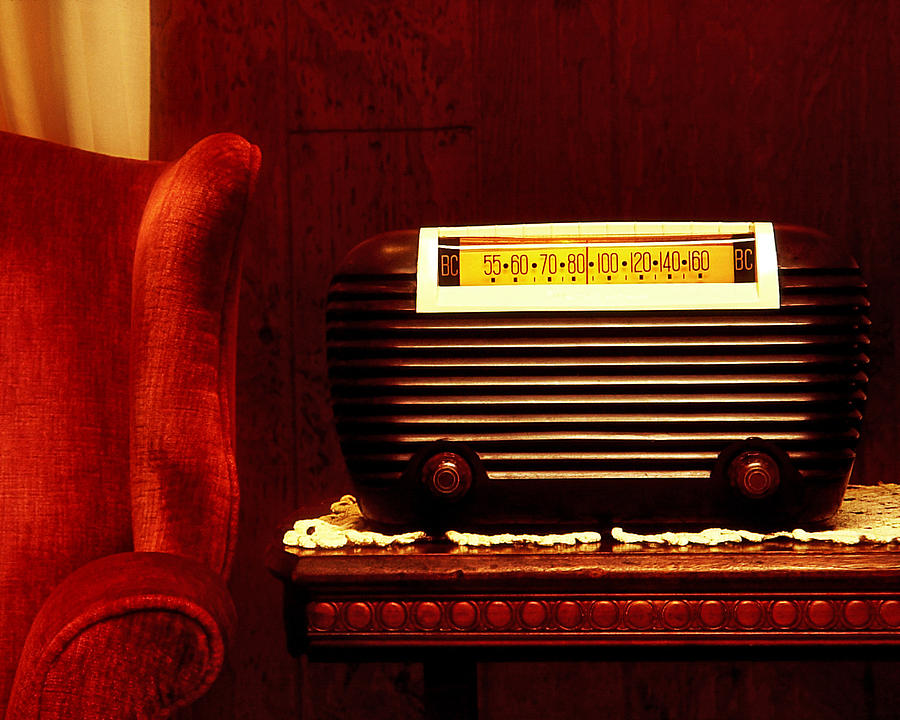 Antique Radio Photograph - Antique Radio by Kelley King