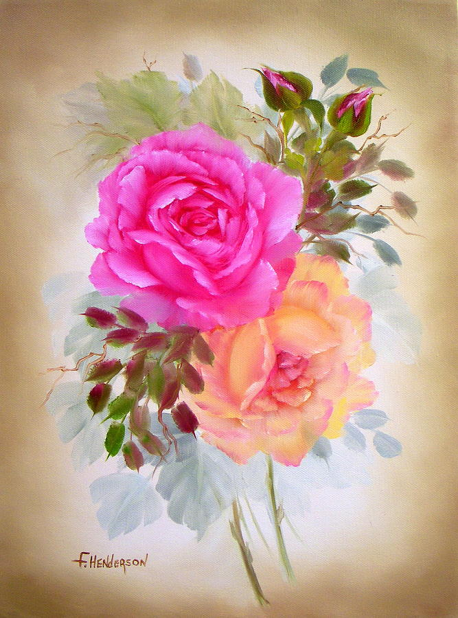 Roses Painting - Antique Roses by Francine Henderson