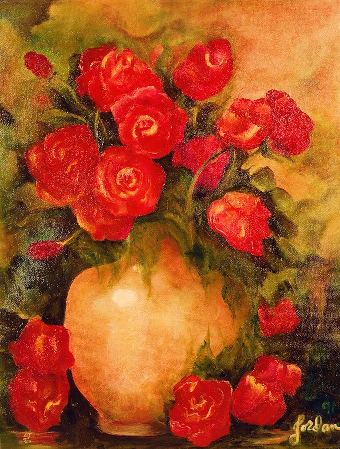 Pretty Painting - Antique Roses by Jordana Sands