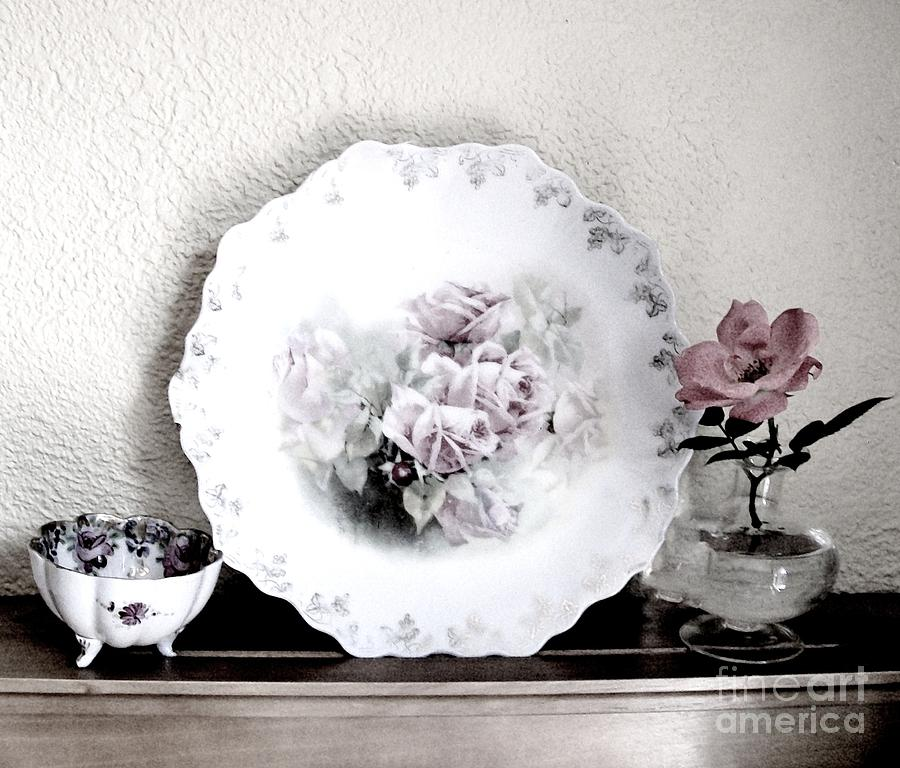 Photo Photograph - Antique Roses Of Old by Marsha Heiken