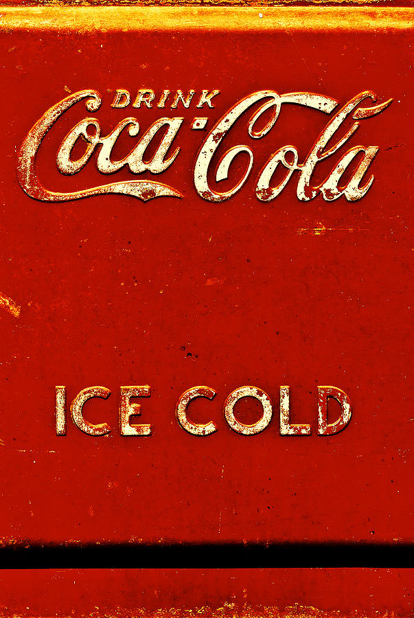 Antique Ice Box Photograph - Antique Soda Cooler 6 by Stephen Anderson