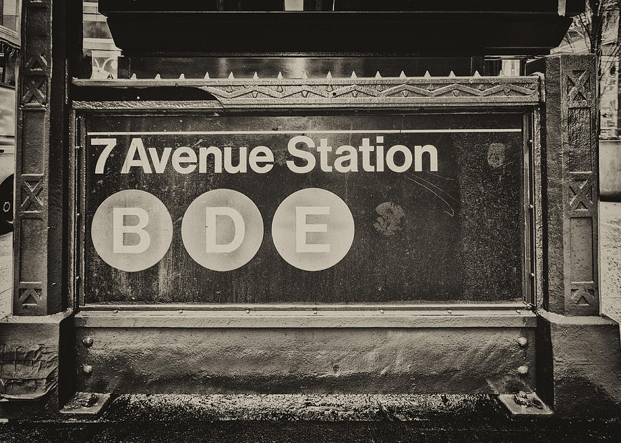 Manhattan Photograph - Antique Subway Entrance by Dick Wood