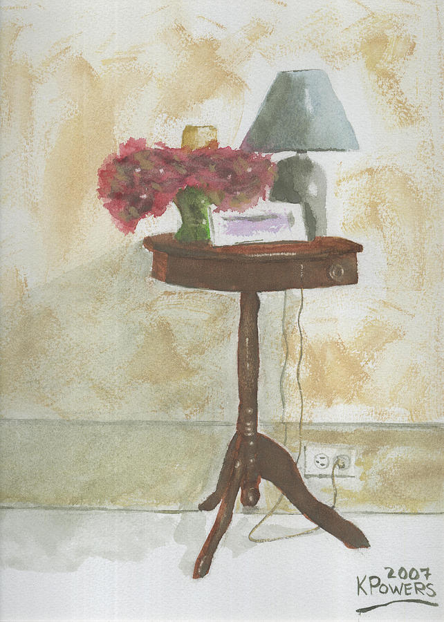 Table Painting - Antique Table by Ken Powers