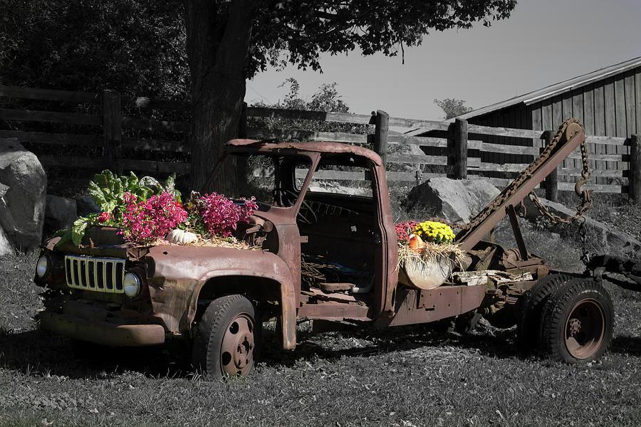 Antique Tow Truck Photograph