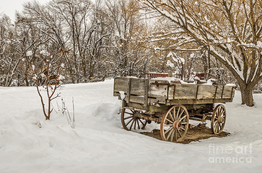 Antique Wagon in Rural America by Sue Smith
