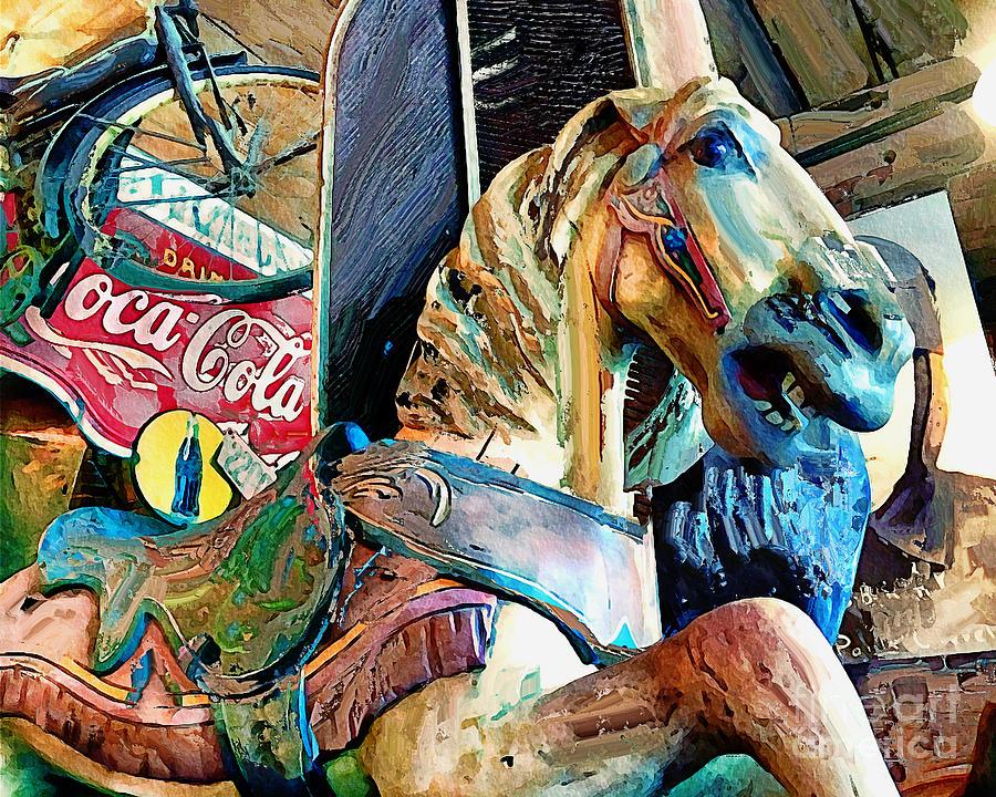 Antiques Carousel Horse Photograph