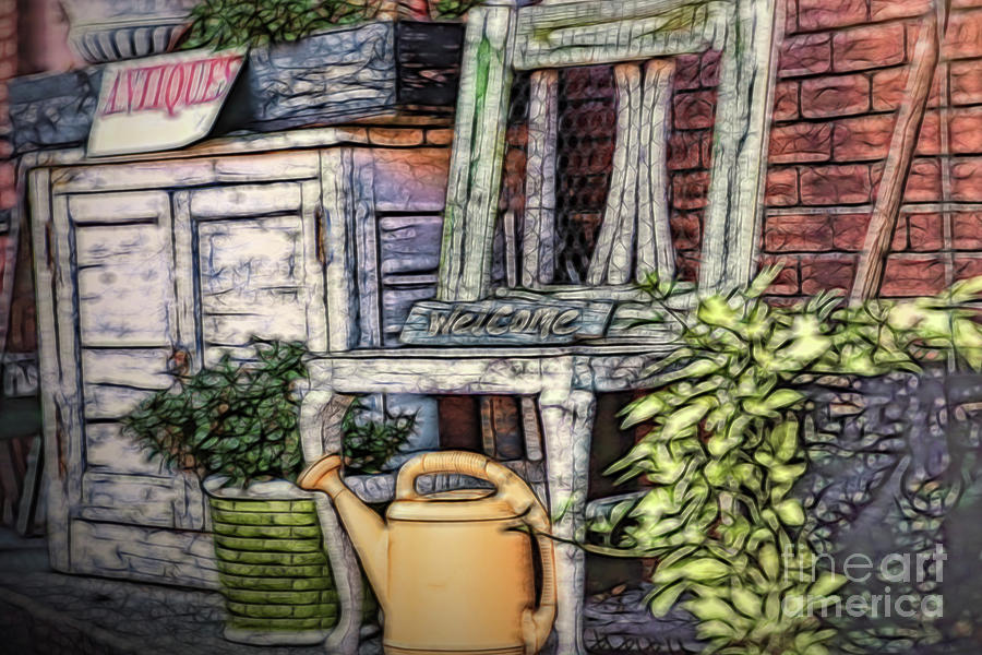 Antiques On The Front Porch Digital Art