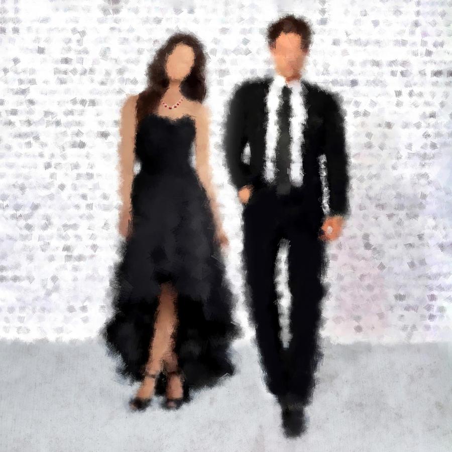 Fashion Digital Art - Antonia And Giovanni by Nancy Levan