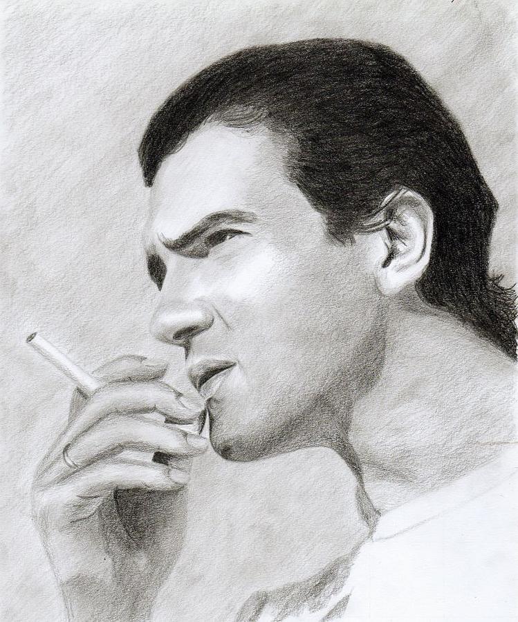 Antonio Banderas Drawing - Antonio Banderas by Eniko Tanyi