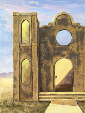Mission Painting - Antonito Mission by Sandi Snead