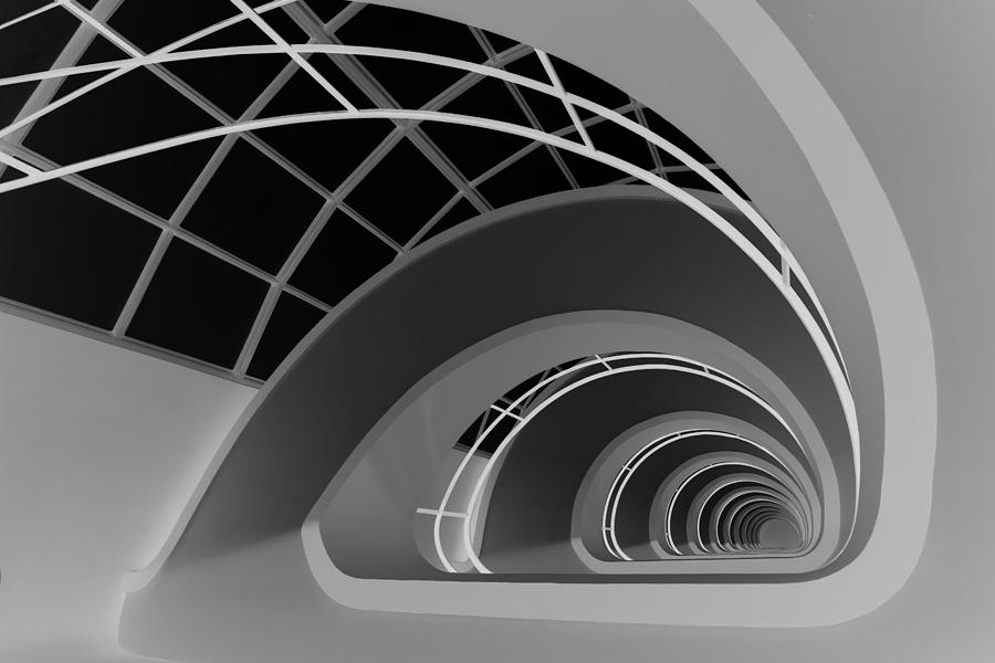 Abstract Photograph - Antwerp-stairs by Jan Niezen