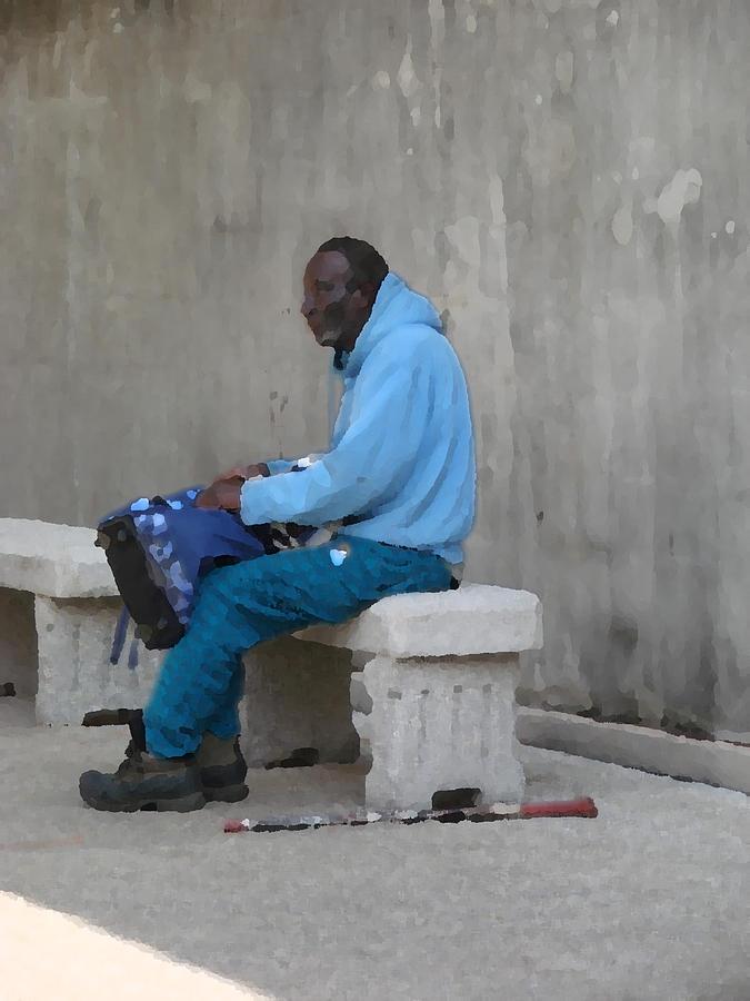 Homeless Photograph - Any Man by Kimberly Camacho