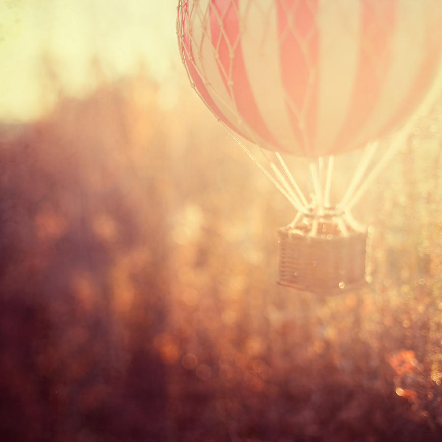 Hot Air Balloon Photograph - Anything Is Possible by Irene Suchocki