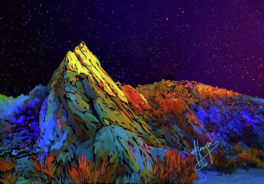 Anza Borrego Desert Peak Painting