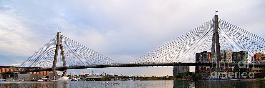 Anzac Bridge. Sydney. by Geoff Childs