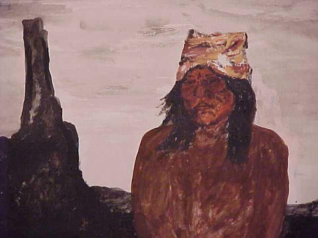 Portrait Painting - Apache Brave by Ronald Pastore