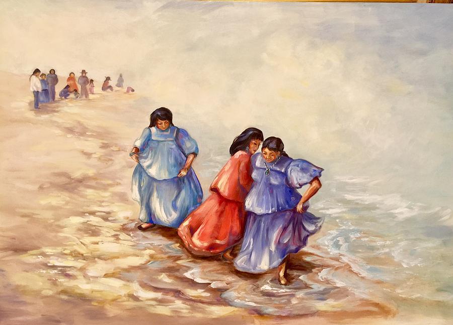 Apache Ocean Dance Painting by Caroline Patrick