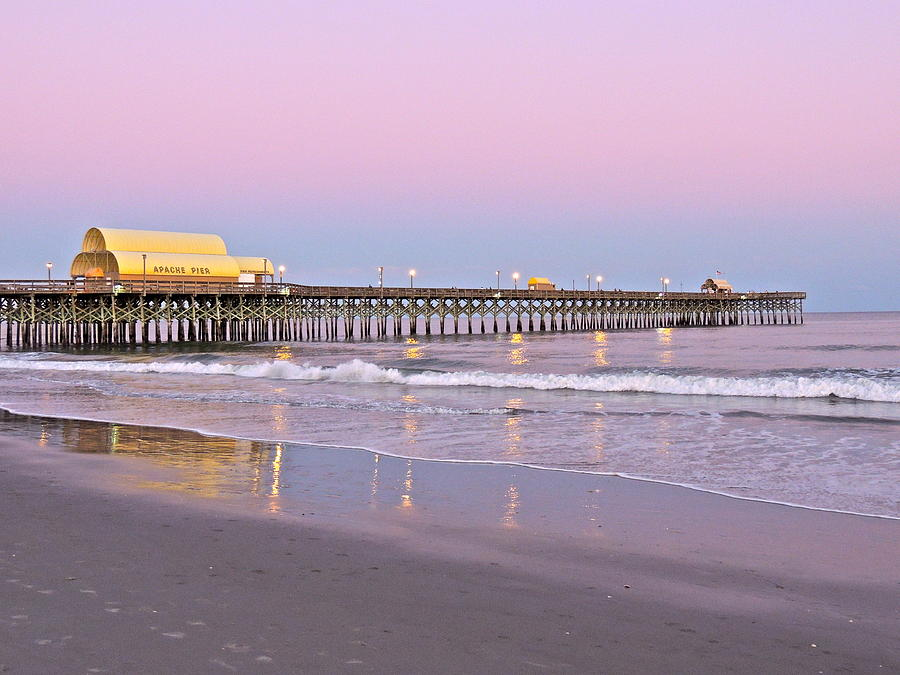 Pier Photograph - Apache Pier Sunset by Eve Spring