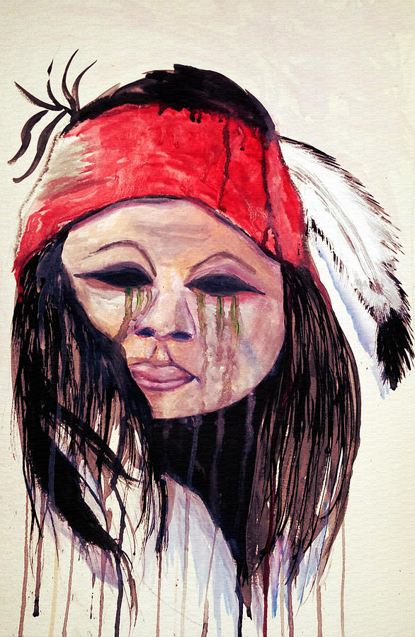 Watercolor Painting Of Apache Tears By Ayasha Loya Painting