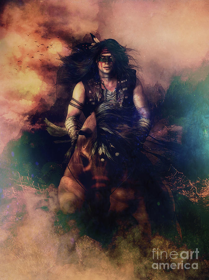 Apache Warrior Digital Art By Shanina Conway