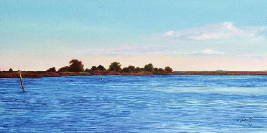 Gulf Of Mexico Painting - Apalachicola Bay Autumn Morning by Paul Gaj