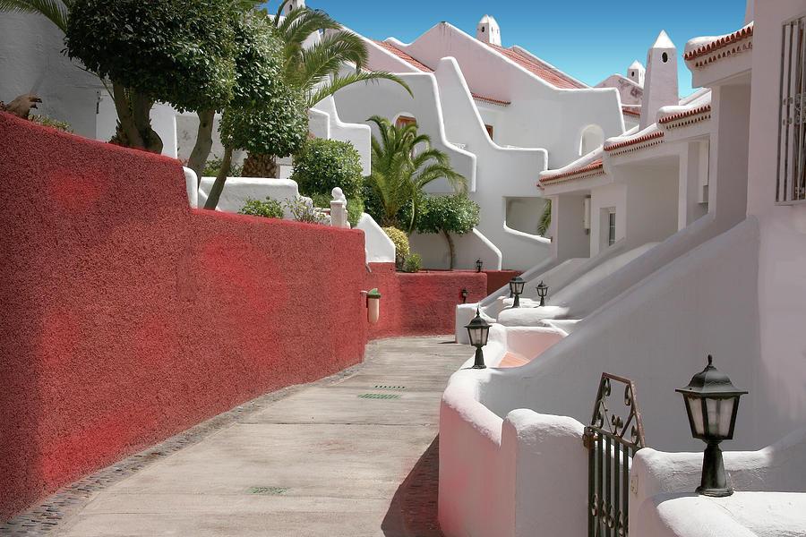 Architecture Photograph - Apartments San Blas Tenerife by Aleck Rich Seddon