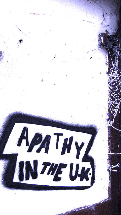 Graffiti Photograph - Apathy In The Uk by Joshua Ackerman