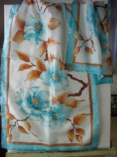 Silk Tapestry - Textile - Apfelblueten by Haike Espenhain