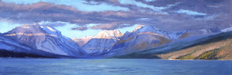 Glacier National Park Painting - Apgar Winter Panorama by Jeff Troupe