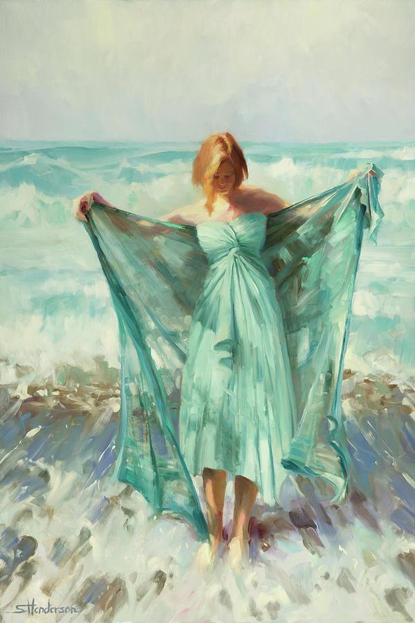 Ocean Painting - Aphrodite by Steve Henderson
